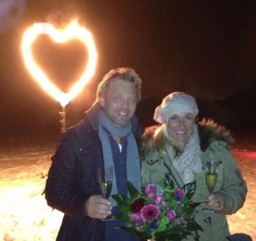 Feuerwerk Heiratsantrag